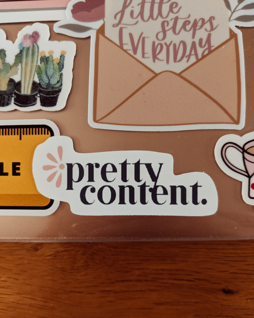 Small Pretty Content custom logo sticker